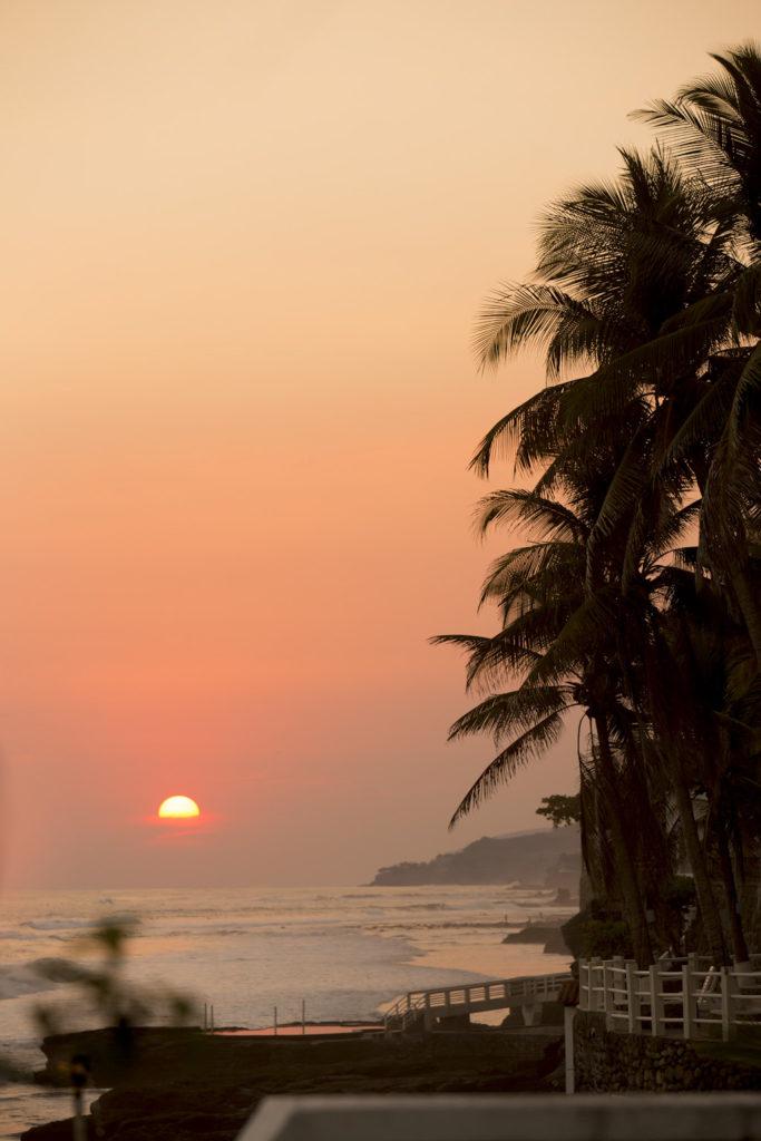 El Salvador har vakker natur. Her fra solnedgangen på brullupsdagen.